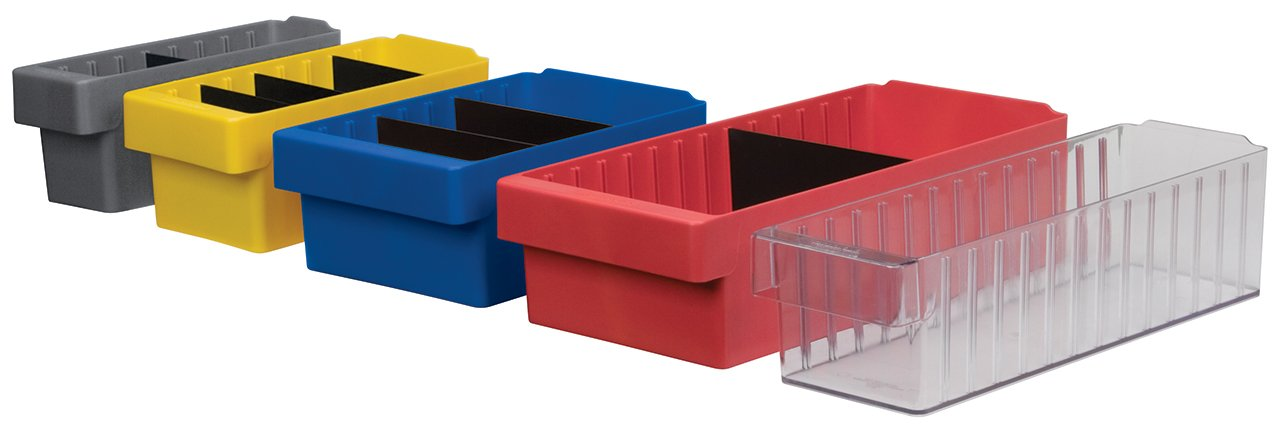 AkroDrawer Plastic Storage Drawer Case of 4 31112RED CS Red Akro-Mils 31112 11-5//8-Inch L by 11-1//8-Inch W by 4-5//8-Inch H