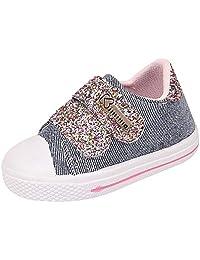 Tênis infantil Feminino Com Glitter Cano Baixo Dia a Dia