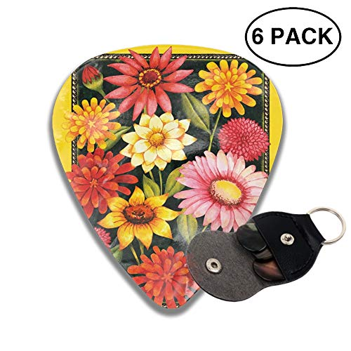 - Yellow Welcome Bouquet Flag 3D Printed Custom Guitar Picks 6pcs Celluloid Bass Celluloid Material Same Pattern on Both Sides 0.46mm/0.73mm/0.96mm
