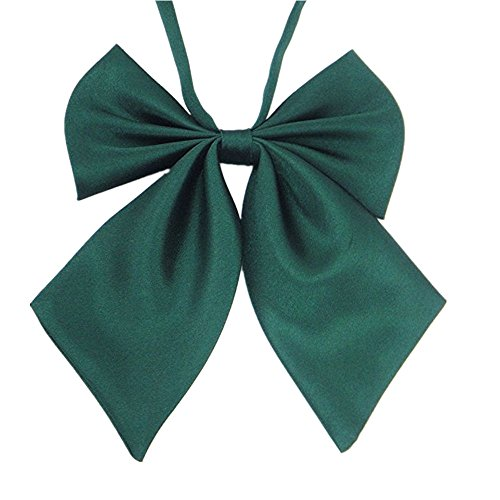 Japan Cosplay Noble School Student Girl Style Bow Tie Dark Green Green One (Ribbon Tie)