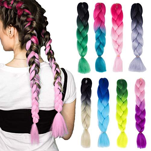 Wigs African Black Dirty Braid Wig Highlight Color Gradient Hair Extension Dreadlock Wig Twist (C)