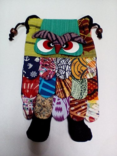 Thai Handmade Adorable Patchwork Owl Back Pack Bag Full Color ( Ayutthaya shop )