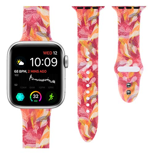 Sport Band Compatible with Apple Watch, Soft Silicone Strap Replacement Bands Wristbands Compatible with iwatch Sport Series 4, 3, 2, 1 S/M M/L 44mm 42mm 40mm 38mm