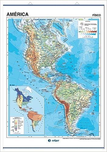 Mapa Fisico De America.America Mapa Fisico S A Edigol Ediciones And Edigol