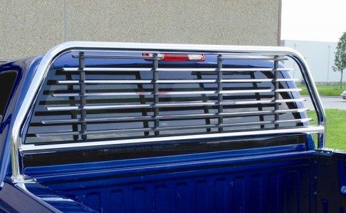 Go Industries Round Tube Headache Rack Chrome Ford F250+ 1999 to 2005 SuperDuty