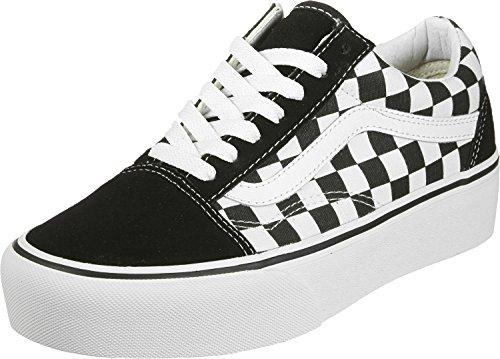 tr Vans Sneaker Wht checkerboard Donna Blk rvTFvwIqx