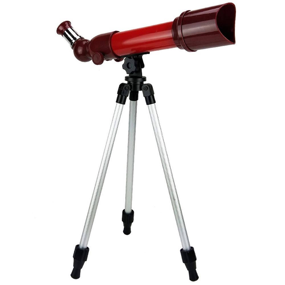 Kids Playing Toy HD Astronomical Refractometer Desktop Telescope with Tripod for Beginners Sky Gaze (Color : Red) by Sunsamy