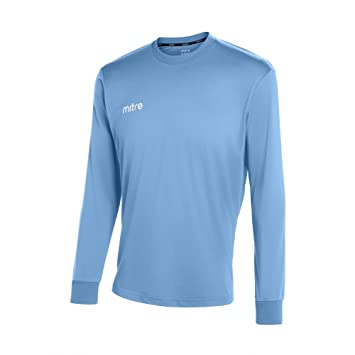 Mitre Men Camero Long Sleeve Football Match Day Shirt - Sky, 2X-Large/
