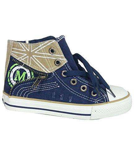 Kinder Sneakers Denim Blau Gr. UK 8bis 3Größe EU 25bis 36