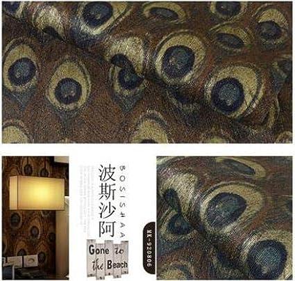 HNZZN Estilo del sudeste asiático chino tapiz de plumas de pavo real Hotel Temático Dormitorio Salón