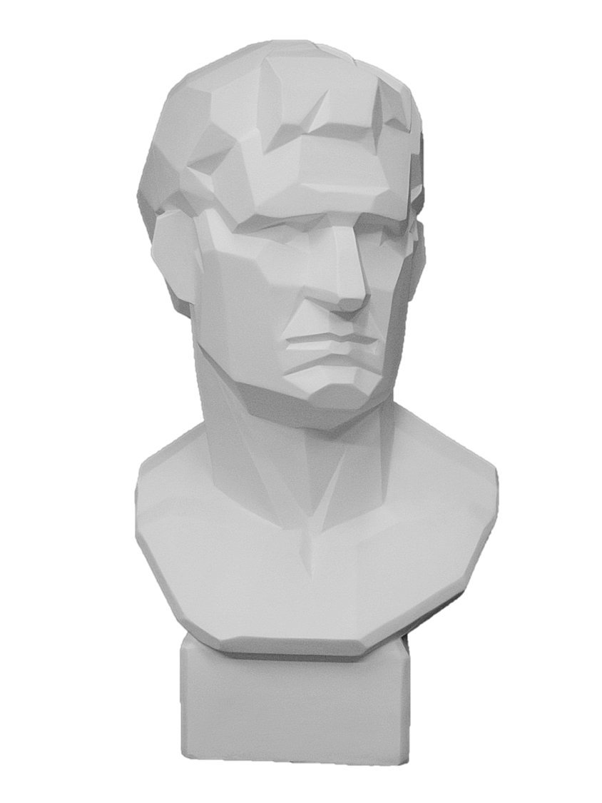 石膏像 K-163 アグリッパ胸像(角) H.58cm B008ENPEJM