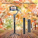 RC Drone Quadcopter Kits, Fdrone Handheld Gimbal Selfie Stick Extension Rod + Tripod Mount Compatible with DJI OSMO Mobile 3 Black