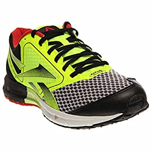 Reebok One Guide Mens Running Shoe 9.5 Black-Yellow-Red