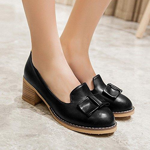 Couleur Talons CN37 sur Glisser Chaussures ZHANGRONG Taille UK4 EU37 5 Formelle Rugueux Bout Pointu PU Femmes de 5 Bureau B Chaussures Chaussures des qxxBX4Z
