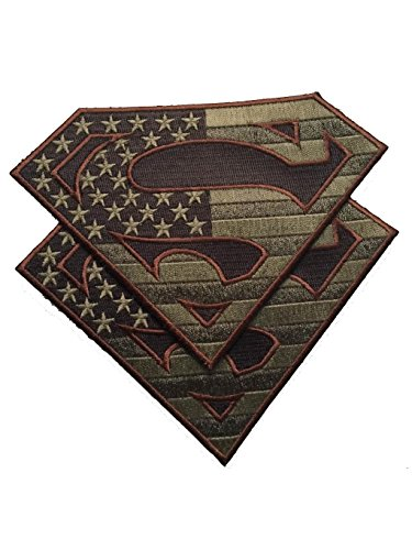 Bundle 2 pieces - American Superman large Patches Military Colors