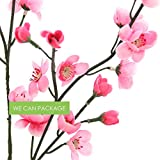 "We Can Package 30"" Pink Cherry Blossom Spray 12pc/pack for Wedding Centerpiece Floral Decoration"