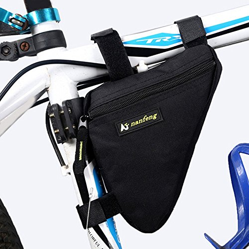 Juemenzhe Sport Bicycle Bike Storage Bag Triangle Saddle Frame Strap-On Pouch for Cycling by Juemenzhe (Image #2)