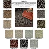 Oval 3 X5  IVY - TRACES - Custom Carpet Area Rug - 40 Oz. Tufted, Pinpoint Saxony - Nylon by Milliken (13 Colors...