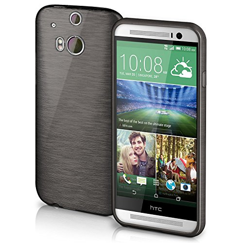 TPU Silicone Back Case for HTC ONE M8 (Black) - 2