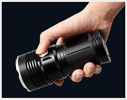 WindFire New Ultra Bright 16 LED Handheld Searchlight, T6 LED Water Resistant Best High Lumen Tactical Flashlight with 3 Modes, Portable Self-Defense Spotlight Torch for Home Outdoor Camping, Hunting by WindFire (Image #9)