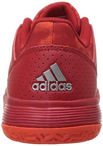 Pictures of adidas Unisex Ligra 5 K Tennis Shoe BY1859 Scarlet/Energy/Metallic Silver 8