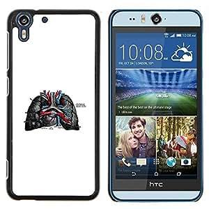 Stuss Case / Funda Carcasa protectora - Las venas del corazón - HTC Desire Eye M910x