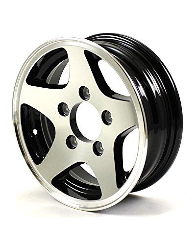 (HWT 424545B 12X4 5/4.5 Aluminum 5-Star Trailer Wheel)
