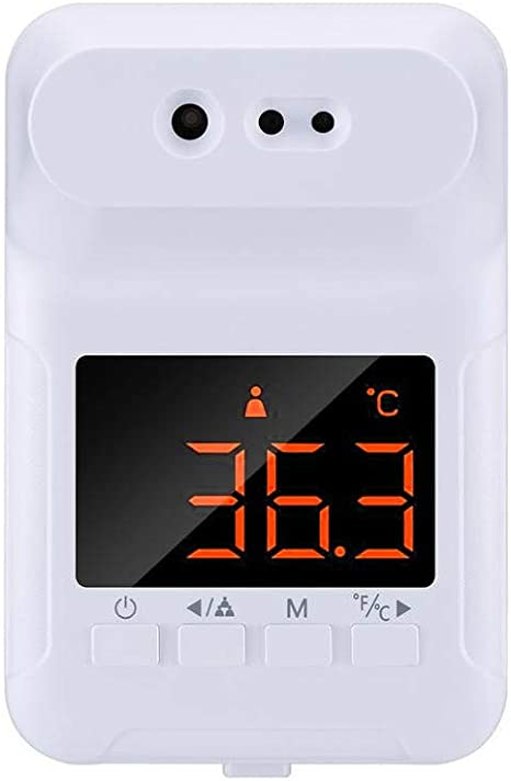 Non-Contact Automatic Senor Fever Alarm Temperature Measurement Tool with Digital LCD Display for Office School AISHFP Smart Wall-Mounted Infrared Thermometer