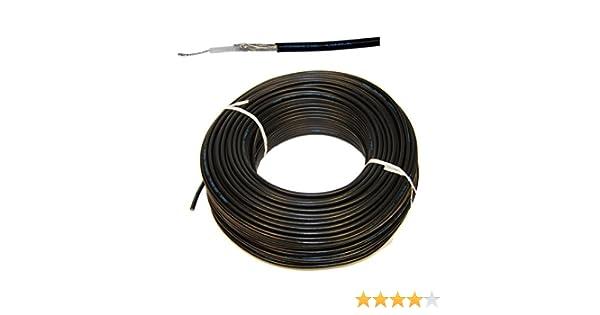 1 Meter Flexible RG-58 Cable Coaxial Color Negro - Cable coaxial RG58 para FM Radio VHF en Marino Calidad para Yates Barco Marítimo Radio Equipo Cable ...