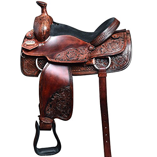 OS100M-F HILASON WESTERN RANCH COWBOY ROPING SADDLE 16 (Roping Saddle Western)