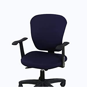wonderfulwu Stretch Chair Covers Spandex Office Computer Chair Cover Removable Washable Rotate Swivel Chair Protective Covers (Blue)
