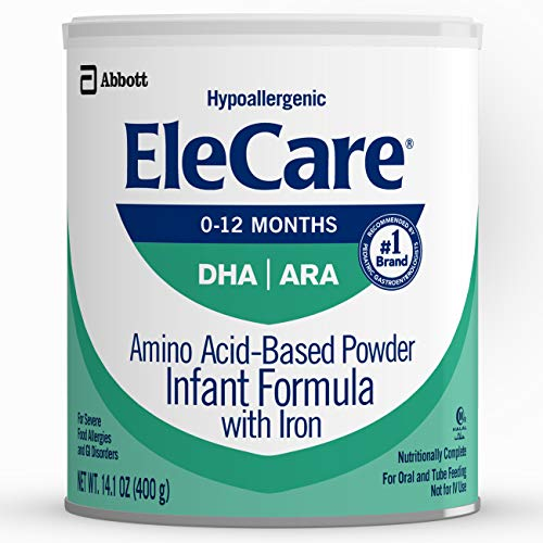 EleCare For Infants (0-12 months) Unflavored Powder with DHA/ARA, 1 Can 14.1OZ (Packaging may vary)