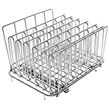 LIPAVI Sous Vide Rack – Model L15 (26SD) Stainless Steel, Square 10.8 X 8 Inch, Height 6.6 Inch. Adjustable, Collapsible, Ensures Even and Quick Warming. Recommended in combination with CAMBRO 4,75 Gallon (model 12189CW135) in combination with Anova, Nomiku, Sansaire and PolyScience Chef.