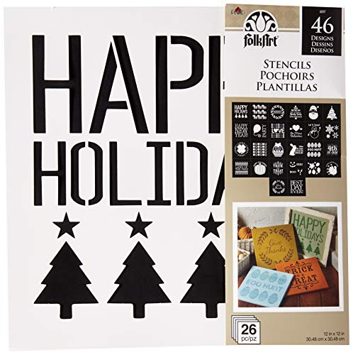 FolkArt Holiday Value Stencil Pack