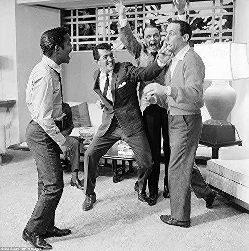 8 x 10 Wood Framed Print Sammy Davis Jr Dean Martin Frank Sinatra and Joey Bishop On The Ser Oceans 11