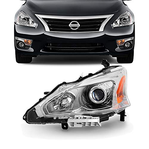 Door Left Headlight - For 13-15 Altima 4 Doors Sedan Halogen Type Headlight Front Lamps Driver Left Side Direct Replacement