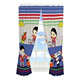Franco Kids Room Window Curtain Panels with Tie Backs Drapes Set, 82' x 63', Ryan's World