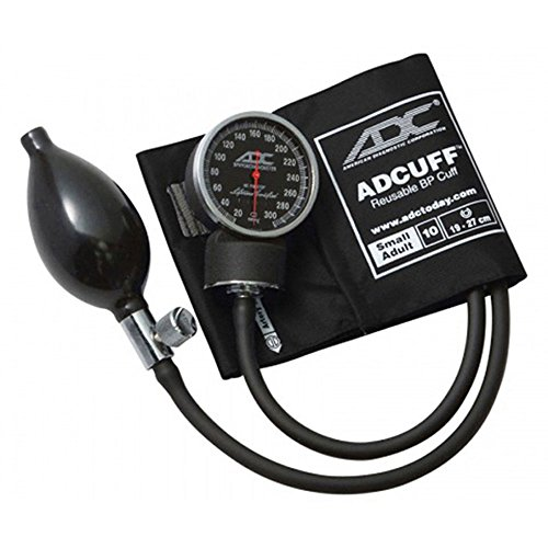 American Diagnostic Corporation Diagnostix 720 Pocket Aneroid Sphygmomanometer Small Black Latex Free