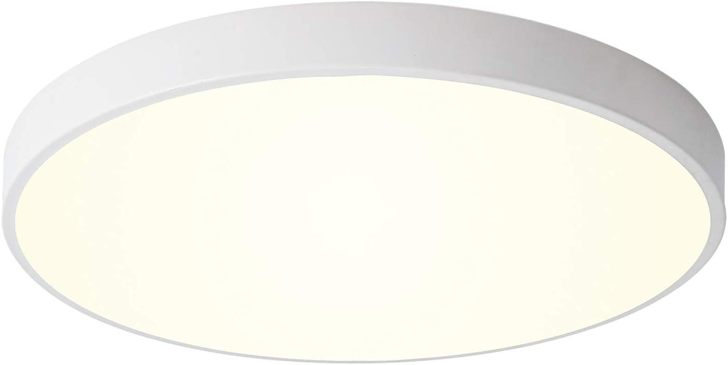 Ganeed LED Ceiling Lights,12 Inch White Round Flush Mount Lighting,Modern Ceiling Lamp Light Fixture for Dining Room Hallway Living Room Bedroom Office,Neutral light/4000K