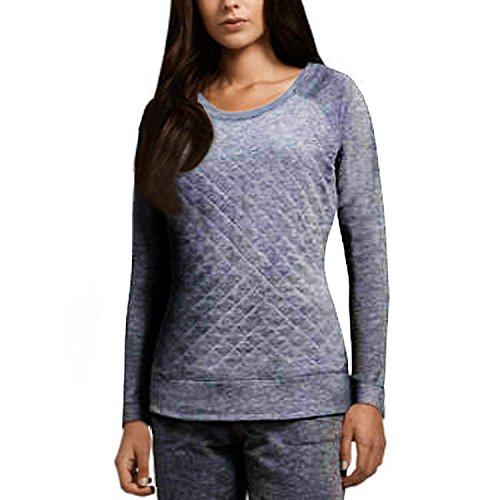 32 Degrees Womens Fleece Top (Heather Blue, Large)