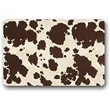 Door Mat Big Cow Fur Print Pattern Doormat Rug Indoor/Outdoor/Front Door/