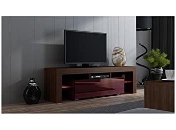 le dernier 06ca7 40de9 Milano meuble tV - moderne Table TV avec étagères en verre ...