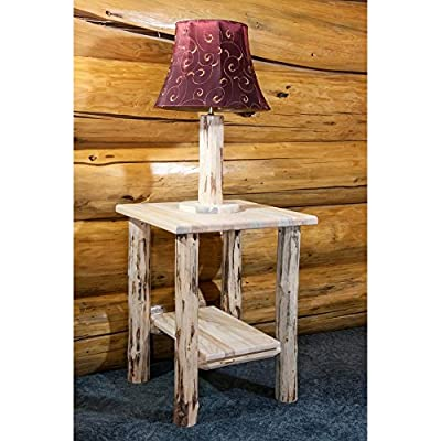 Montana Woodworks Montana Collection Nightstand/End Table with Shelf