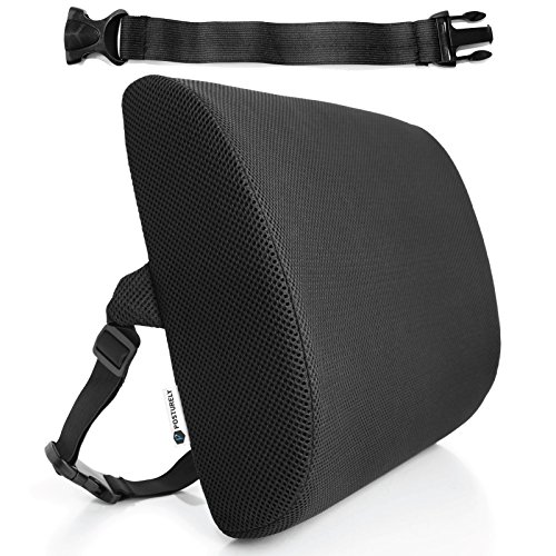 Any Seat Premium Memory Foam Lumbar Support Pillow for Ca...