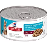 Hill's Science Diet Adult Tender Ocean Fish Dinner Chunks & Gravy Canned Cat Food, 5.5 oz, 24-pack