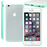 Easygoby [Shock Absorbent] iPhone 6 /6S (4.7) Soft TPU Hybrid Sleek [Dual Tone] Frame Rim with Frosted Matte Clear Hard Back [Scratch-Resistant] Phone Case /Cover /Skin /HardShell For Apple iPhone 6 /6S (4.7) - Mint Green