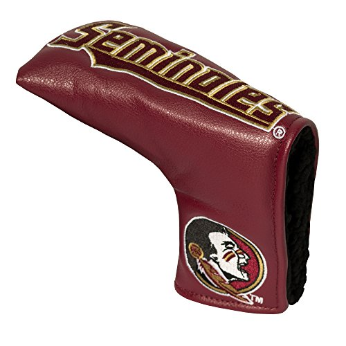 Team Golf NCAA Florida State Seminoles Golf Club Vintage Blade Putter Headcover, Form Fitting Design, Fits Scotty Cameron, Taylormade, Odyssey, Titleist, Ping, Callaway