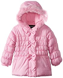 Rothschild Baby Girls\' Jacket with Multidot Sparkle and Bow Trim, Pink, 18 Months