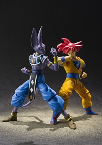 "5128a6LYM5L - Bandai Tamashii Nations S.H. Figuarts Super Saiyan God Son Goku ""Dragon Ball Super""  Action Figure"