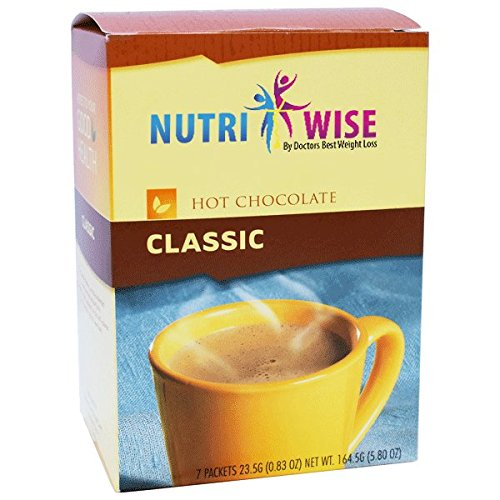 NutriWise - High Protein Hot Chocolate - Instant Low-Carb, Low Calorie Hot Chocolate Mix with 15g Protein - Chocolate (7 Count)
